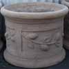 Picture of Pot Cylinder Lemon Antique Choc TC