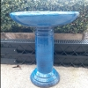 Picture of Pot Bird Bath Glazed Blue