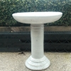 Picture of Pot Bird Bath Glazed White