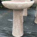 Picture of Pot Bird Bath Round Tiger Scratch