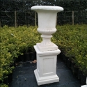 Picture of Pot French Urn and Plinth Ivory