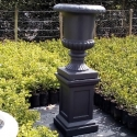 Picture of Pot French Urn and Plinth Anthracite