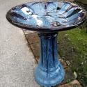 Picture of Pot Bird Bath Snow Blue