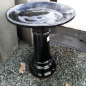 Picture of Pot Bird Bath Black and Silver