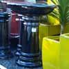 Picture of Pot Bird Bath Glazed Black