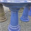 Picture of Pot Bird Bath Glazed Lt Blue