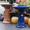 Picture of Pot Bird bath Glazed Blue
