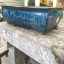 Picture of Pot Bonsai Rectangle Jun Blue