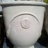 Picture of Pot Glazed Urn Flower/Fern Motif Cream