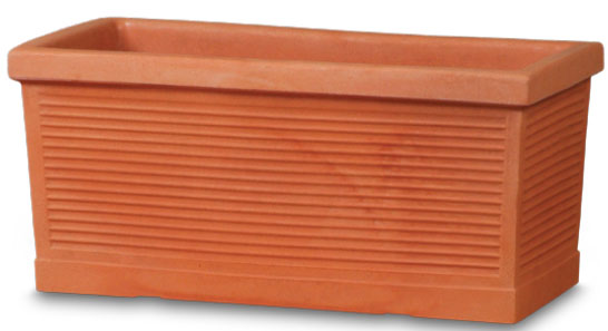 Picture of Pot Terracotta Ribbed Window Box